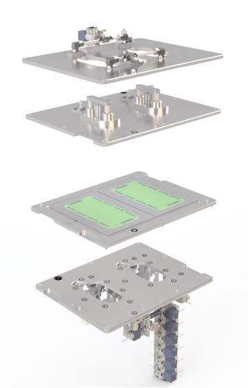 3D Darstellung vom Aufbau der Pruefkammer